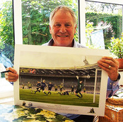Joe Royle Manchester city Signed Print