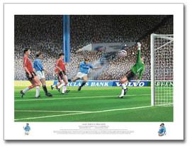 man city v gillingham 1999 print