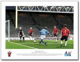 Print of Man City 5-1 Manchester Derby 1989